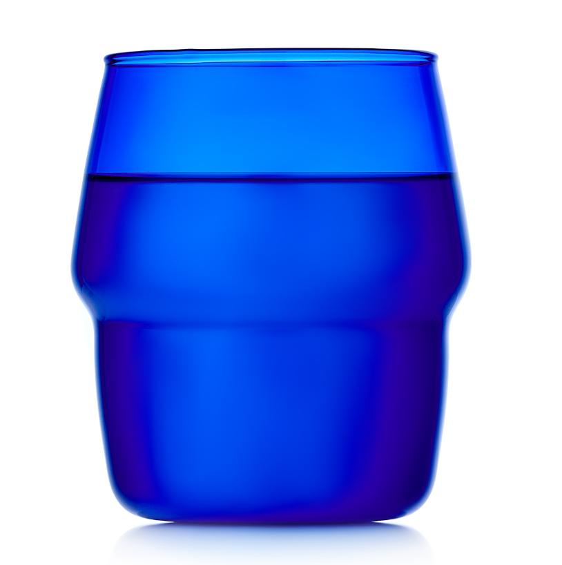 Стаканы (двойной стакан) Стакан из синего стекла, 350 мл 020-350b.PNG
