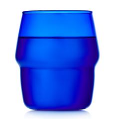 Стакан 350 мл, стеклянный синий, прозрачный цветной