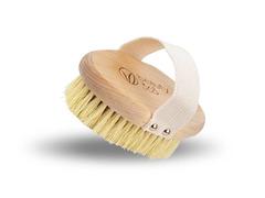 Щетка для сухого массажа жесткая с ремешком, массажная щетка Beauty365, Бьюти 365