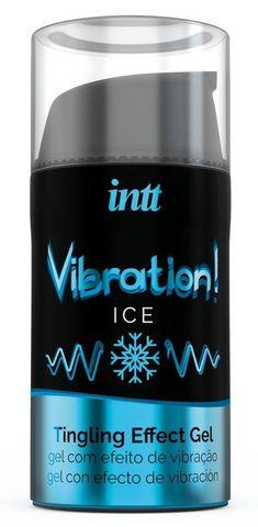 Жидкий интимный гель с эффектом вибрации Vibration! Ice - 15 мл.