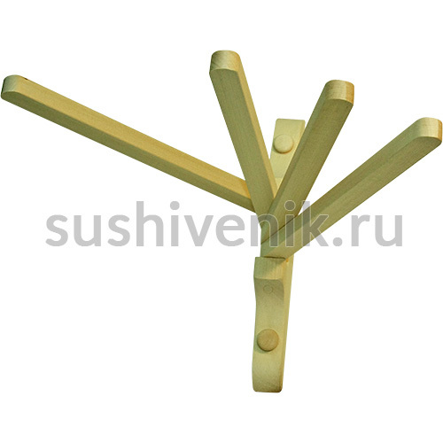 Вешалка веерная, 4 крючка