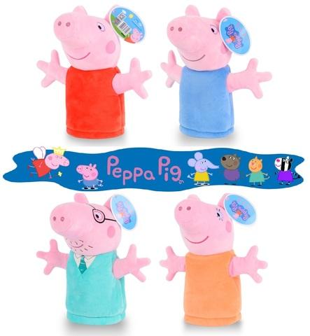 Розовая Свинка кукла перчатка на руку