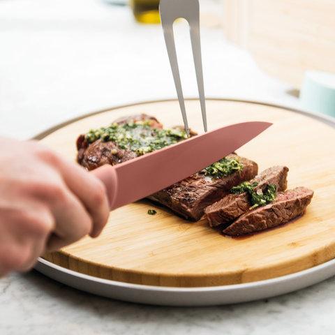 Нож для мяса 19см Leo (розовый)
