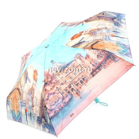 Женский зонт автомат Ламберти бирюзовое небо Италии