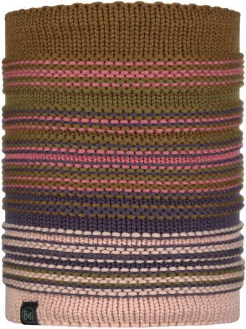 Вязаный шарф-труба с флисом Buff Neckwarmer Knitted Polar Neper Rose фото 1