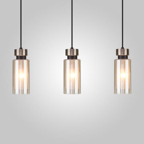 Подвесной светильник со стеклянными плафонами 50115/3 черный