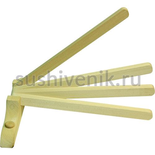Вешалка веерная, 4 крючка (прямая)