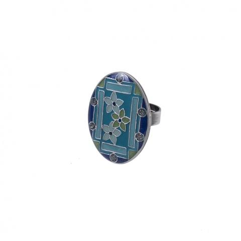 Кольцо Незабудки K75808-8 BL