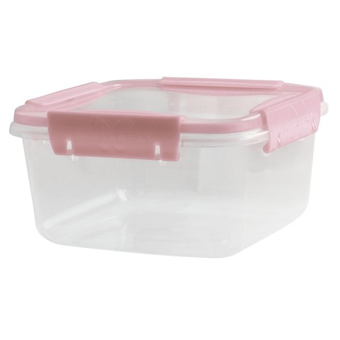 Контейнер д/СВЧ Полимербыт Butterfly light 1,2л герметичный,розовый ПП