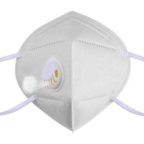Маска защитная (респиратор) KN95 с клапаном выдоха, класс защиты FFP2