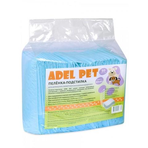 Пеленка-подстилка впитывающая Адель Пет одноразовая 60*40 (уп. 30шт)