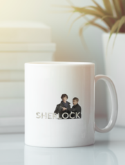 Кружка с рисунком Шерлок (Sherlock, Бенедикт Камбербэтч) белая 0012