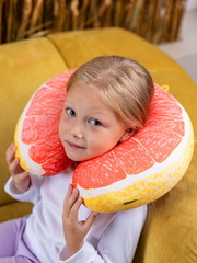 Подушка для шеи, подголовник Gekoko «Грейпфрут» 3