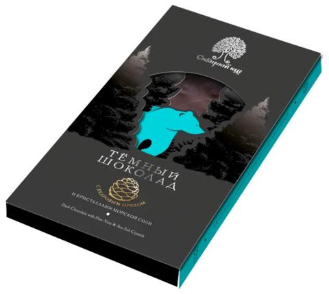 Шоколад темный с морск солью и кедр орех 100гр Сибирский кедр