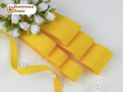 Лента репсовая желтая шириной от 6 до 56мм