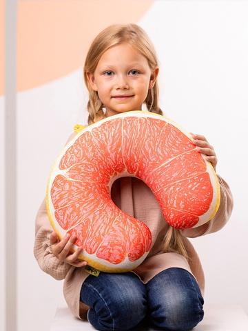 Подушка для шеи, подголовник Gekoko «Грейпфрут»