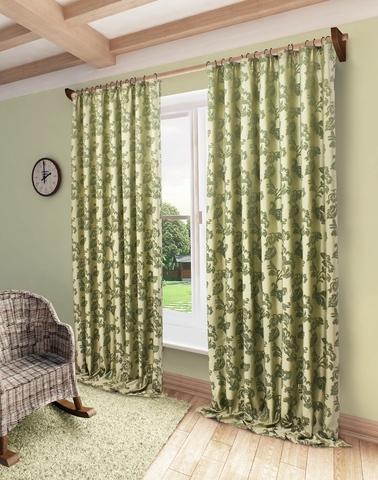 Готовая штора Сьюзен зеленый