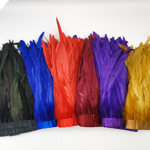 Тесьма  из перьев петуха h-25-30 см,( выбрать цвет)