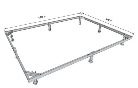 Фундамент металлический для теплиц шириной 3 метра