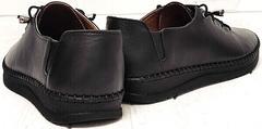 Модные кроссовки мокасины женские черные smart casual EVA collection 151 Black.