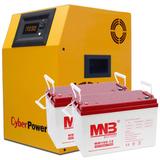 Комплект на базе инвертора CyberPower 1.5 кВА / 1.0 кВт - фотография