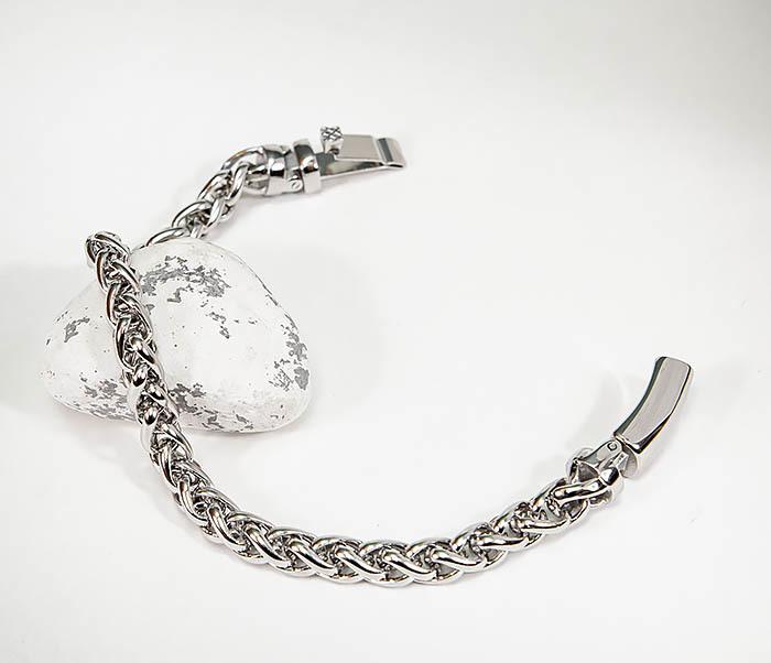BM543-1 Мужской браслет цепь серебристого цвета фото 02