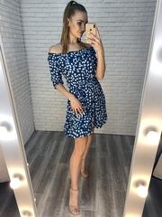 синее летнее платье купить
