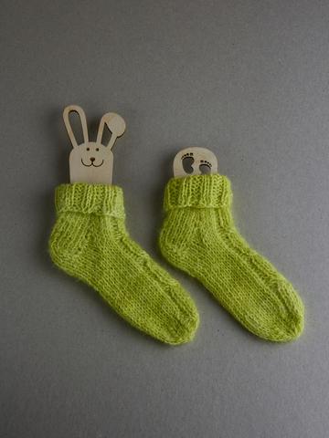 Носочки для новорожденных из пуха кролика, р. 3-6 м, ц. перец