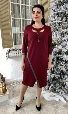 Оливия. Оригинальное нарядное женское платье. Бордо