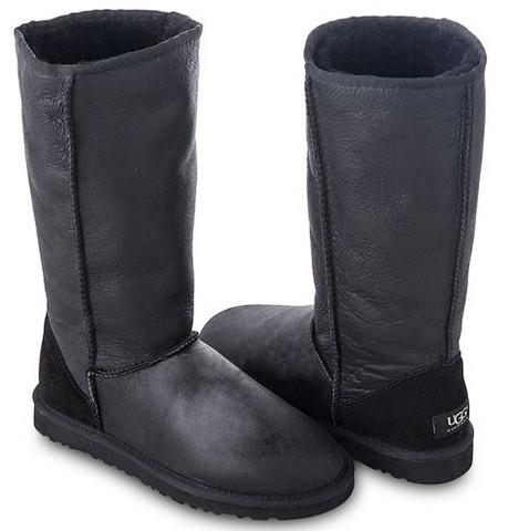 UGG Tall Metallic Black