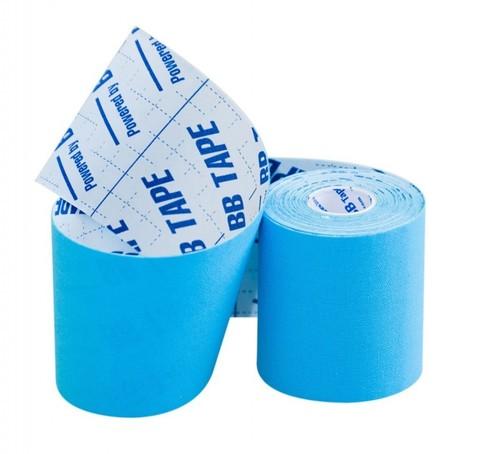 BBtape кинезио тейп 7,5 см × 5 м (голубой)