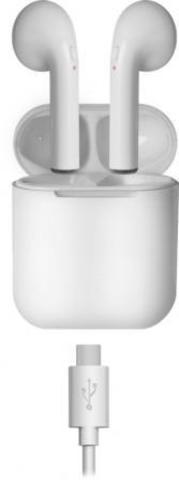 Гарнитура беспроводная  Defender Twins 637 белый,TWS, Bluetooth