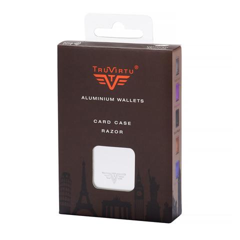 Визитница c защитой Tru Virtu Razor, карбон, 104x68x20 мм