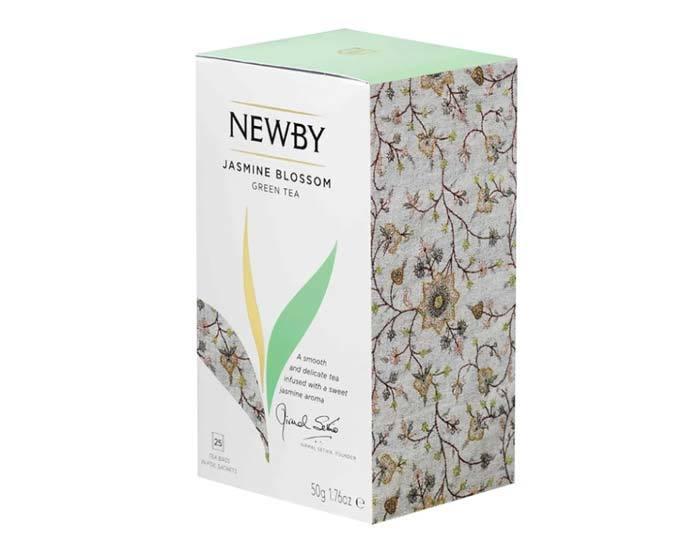 Чай зеленый в пакетиках Newby Jasmine blossom, 25 пак/уп