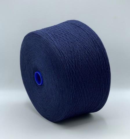 Бобинная пряжа Lane Rossi (пр.Италия),art.ZEUS, 1480 м/100гр,80% шерсть 20%полиамид, цвет-Синий. арт.9756