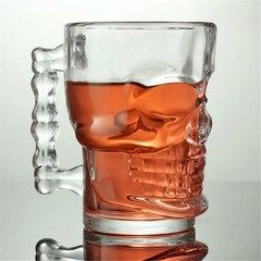 Пивная кружка Череп, 300 мл, стекло, фото 7