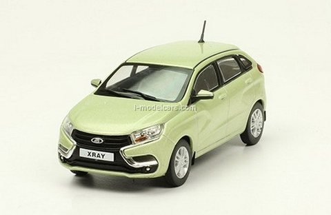 Lada X-Ray 2015 light green 1:43 DeAgostini Auto Legends USSR #282