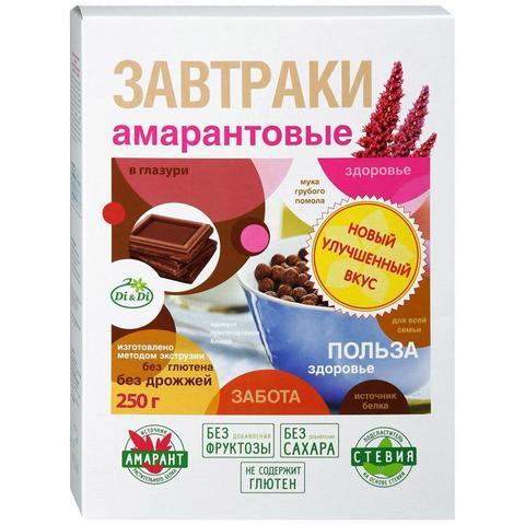 Готовые завтраки амарантовые в шоколадной глазури, 250 гр. (Ди энд Ди)