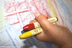 Мелки восковые пальчиковые 6 цветов Waldorf, без коробки (Stoсkmar)