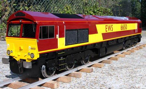 Garden Rail Тепловоз  Class 66-59 на колею 12,7 см, электрический