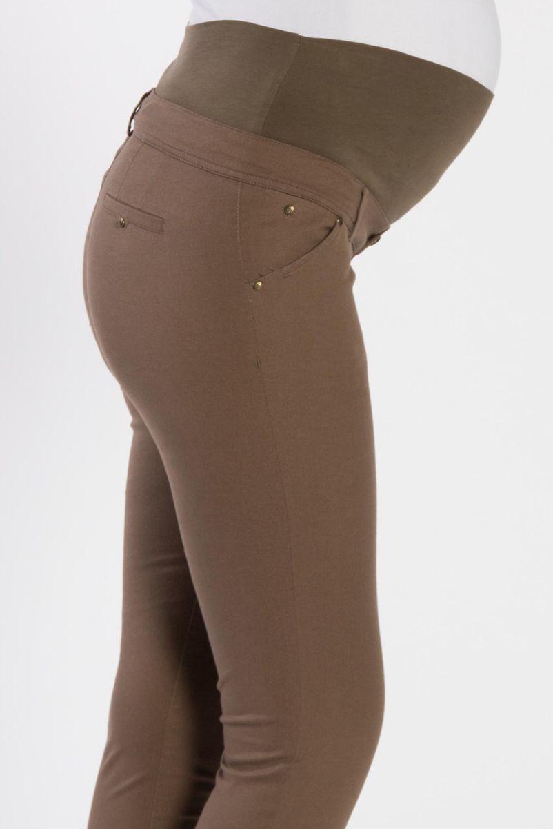 Брюки для беременных 02822 коричневый