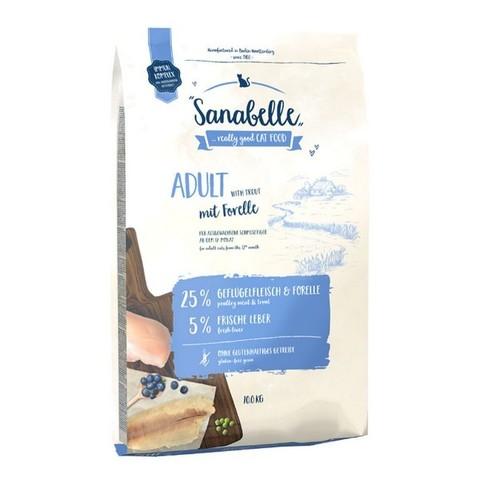 10 кг. BOSCH SANABELLE NEW Сухой корм для взрослых домашних кошек с форелью Adult with Trout