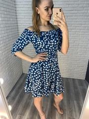 синее летнее платье nadya