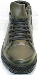 Стильные мужские ботинки на шнуровке Luciano Bellini BC2803 TL Khaki.