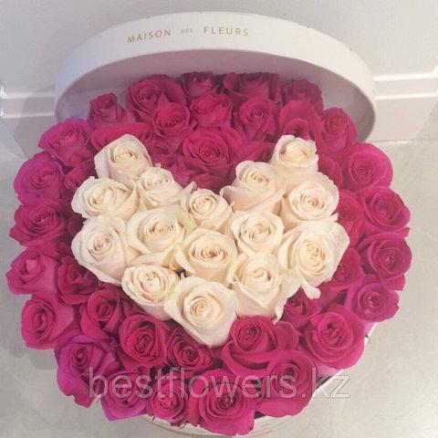 Коробка Maison Des Fleurs с розами 36