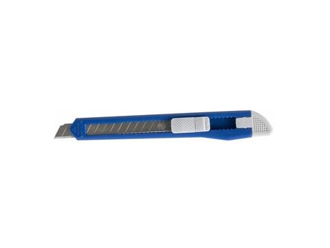 Нож технический КОБАЛЬТ лезвие 9 мм, пластиковый корпус, пакет (242-182)