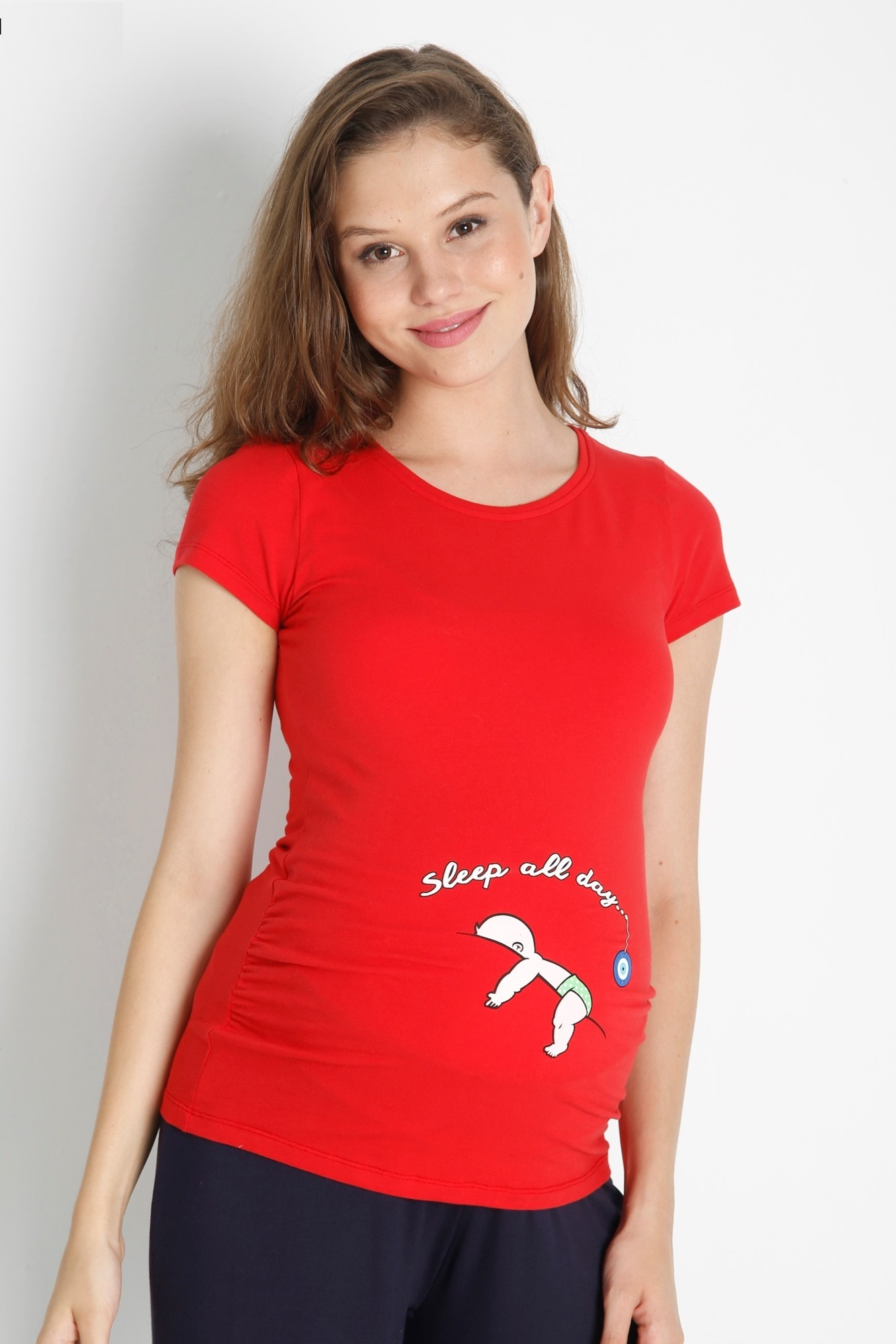 Футболка для беременных 08438 красный