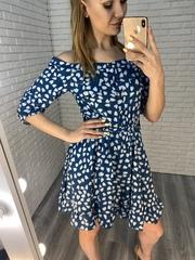 синее летнее платье недорого