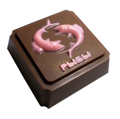 Пластиковая форма для шоколада ЗНАК ЗОДИАКА РЫБЫ (65х65мм)