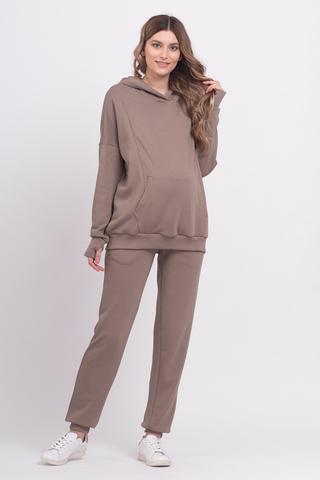 Спортивный костюм для беременных и кормящих 12275 коричневый